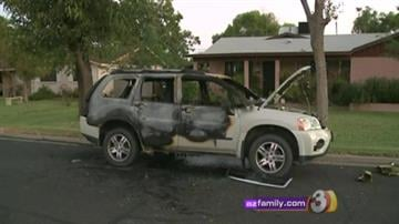 Police are searching for the person who torched at least five cars and tried to light up several more in the East Valley early Thursday morning. By Catherine Holland