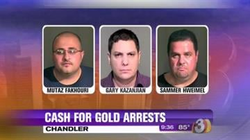 Seven people from five Cash for Gold stores were arrested for trafficking stolen goods following a four-month-long investigation involving the pawning of stolen jewelry. By Jennifer Thomas
