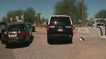 A Maricopa County sheriff's spokesman said a possible burglary suspect threatened a deputy with a knife before being shot Thursday morning. By Jennifer Thomas