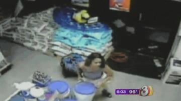 Police said a woman took chlorine tablets from a pool supply store at 90th Street and Mountain View Road in Scottsdale. By Jennifer Thomas