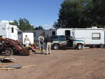 A small camp trailer where the ephedrine extraction was conducted By Jennifer Thomas
