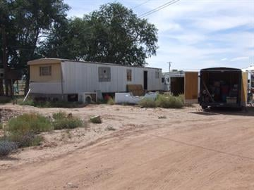 Mobile home where the actual meth cooking was being done. By Jennifer Thomas