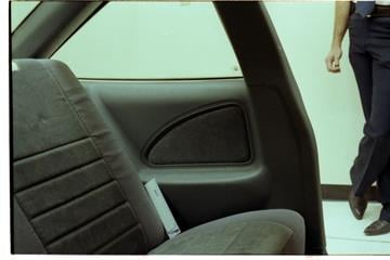 In this evidence photo there is no blood apparent on this car seat By Mike Gertzman