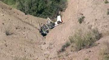A small plane crashed about two miles from San Manuel Airport. By Jennifer Thomas