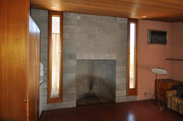 David Wright House Guest House Fireplace By Keith Woods, KB Woods Public Rel