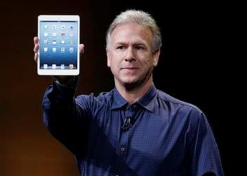 Phil Schiller, Apple's senior vice president of worldwide product marketing, introduces the iPad Mini in San Jose, Calif., Tuesday, Oct.  23, 2012. (AP Photo/Marcio Jose Sanchez) By Marcio Jose Sanchez