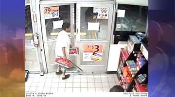 Police are searching for a man who used a machete to threaten a convenience store clerk while helping himself to some beer over the weekend. Investigators need your help to identify the suspect. By Mike Gertzman