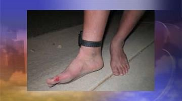 PCSO spokesman Tim Gaffney said the teen was required to wear an ankle monitor, pictured above, as part of his probation. By Catherine Holland