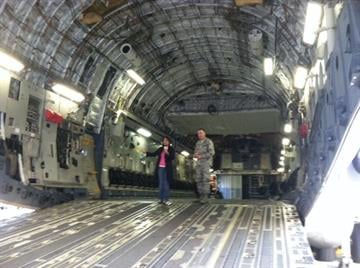 Arizona Air National Guard spokesman Paul Aguirre took 3TV's Tess Rafols on board one of the cargo planes. By Catherine Holland