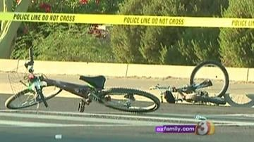 A child was hit by two cars while riding her bike near Indian School Road and 20th Avenue in Phoenix. By Andrew Michalscheck
