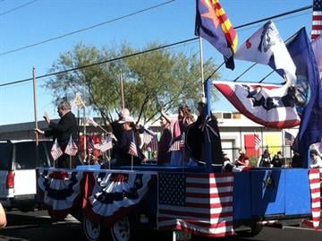 Thousands of people lined Central Ave. in Phoenix on Monday to see the VA Veterans Day Parade to honor the sacrifices of our Veterans. By Mike Gertzman