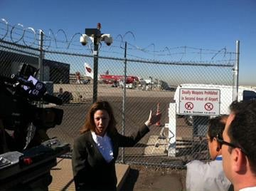 Sky Harbor spokeswoman Deborah Ostreicher explains the security measures in place at the airport. By Catherine Holland