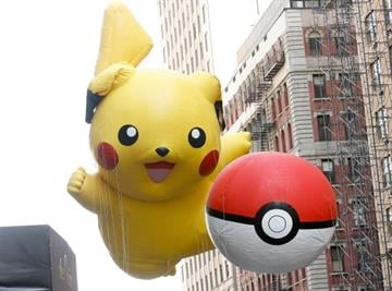 NEW YORK, NY - NOVEMBER 22: The Pikachu Pokemon balloons are seen during the 86th Annual Macy's Thanksgiving Day Parade on November 22, 2012 in New York City.  (Photo by Mike Lawrie/Getty Images) By Mike Lawrie