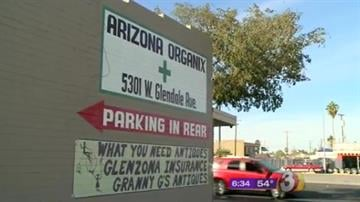 Arizona's first legal medical marijuana dispensary is to open in Glendale two years after voters approved the use of the drug to treat certain health problems such as chronic pain and cancer. By Catherine Holland