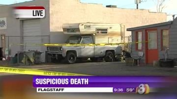A body was found inside the back of a pickup truck in Flagstaff Thursday morning. By Jennifer Thomas