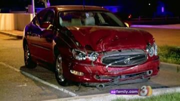A pregnant woman and six children were in a Honda Accord when it was involved in a collision with a red Buick at Hayden Road and Roosevelt Street Monday night. By Jennifer Thomas
