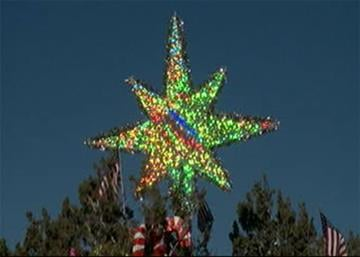 Elves decorated a juniper tree in the median of Interstate 17 north of Sunset Point. By Jennifer Thomas