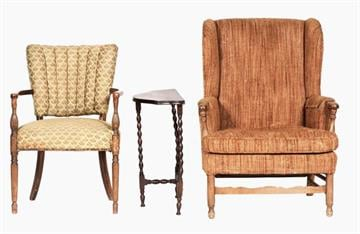 Archie and Edith Bunker Chairs and Table By Catherine Holland