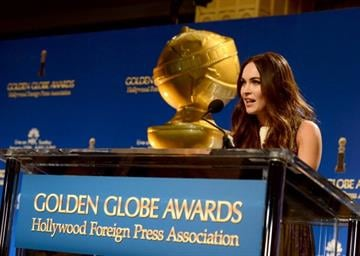 LOS ANGELES, CA - DECEMBER 13:  Actress Megan Fox speaks onstage during the 70th Annual Golden Globes Awards Nominations at the Beverly Hilton Hotel on December 13, 2012 in Los Angeles, California.  (Photo by Kevin Winter/Getty Images) By Kevin Winter