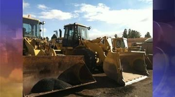 Plows in Flagstaff get ready to tackle the winter storm. By Andrew Michalscheck