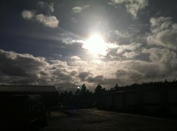 The sun creeps out Thursday afternoon in Flagstaff. By Andrew Michalscheck