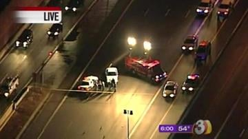 Police are looking for a dark-color SUV that was involved in an early morning crash that killed one young man, injured two others and forced the closure of southbound Loop 101 in the East Valley early Friday morning. By Catherine Holland