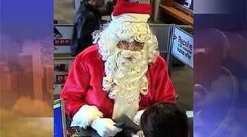 A man dressed as Santa Claus robbed a Bank of America near Happy Valley Road and 23rd Avenue in Phoenix. By Jennifer Thomas