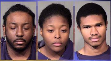 From left: Terrell Williams, Kenyatta Gill and Aaron Alston By Jennifer Thomas