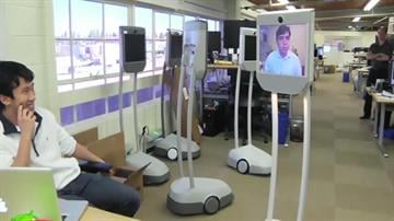 A growing number of companies are selling telepresence robots - mobile video-conferencing systems that give remote employees a physical presence at work. By Mike Gertzman