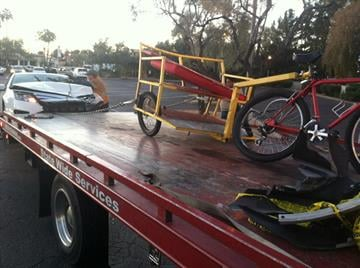 Three people were injured when a car slammed into a pedicab on Scottsdale Road early Friday morning. Police believe might have been a factor in the wreck. By Catherine Holland