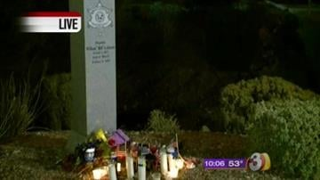 The Maricopa County Sheriff's Office and the Anthem community held a vigil Tuesday to remember Deputy William Coleman on the one year anniversary of his death. By Catherine Holland