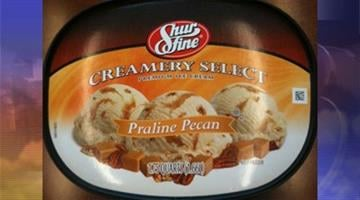 The recall affects ShurFine Brand Creamery Select (Premium Ice Cream) Dulce de Leche that was packed with a ShurFine Praline Pecan lid, but bears the Dulce de Leche labeling on the carton. By Jennifer Thomas