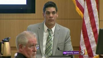 Nathan Mandes, Northern California police officer who caught up with Jodi Arias at her grandparents' home. By Catherine Holland