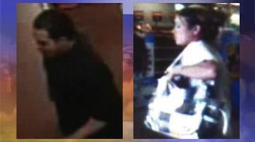 A stolen credit card was fraudulently used by two suspects at a Walmart store in Gilbert. By Jennifer Thomas