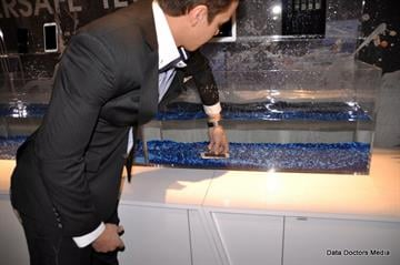 Liquipel demonstrated their nano coating technology that completely protects your mobile devices from water By Picasa