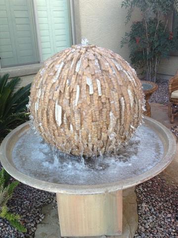 A frozen fountain in Gilbert, Ariz. By Mike Gertzman
