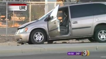 A train hit a minivan Thursday morning in Tempe. By Jennifer Thomas