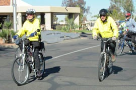 Members of the Sun Lakes Bicycle Club head off on a 10-mile ride. By Jessica Boehm