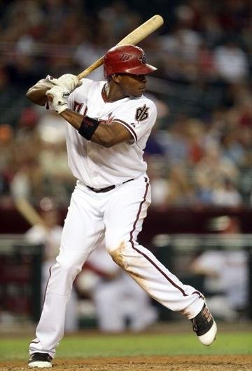 PHOENIX, AZ - OCTOBER 02:  Justin Upton #10 of the Arizona Diamondbacks bats against the Colorado Rockies during the MLB game at Chase Field on October 2, 2012 in Phoenix, Arizona.  (Photo by Christian Petersen/Getty Images) By Christian Petersen