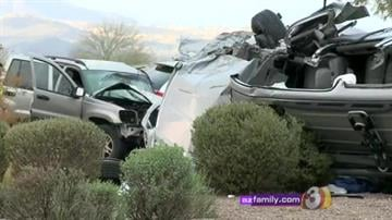 Four vehicles were involved in a collision near Recker and McDowell roads Sunday afternoon. By Jennifer Thomas