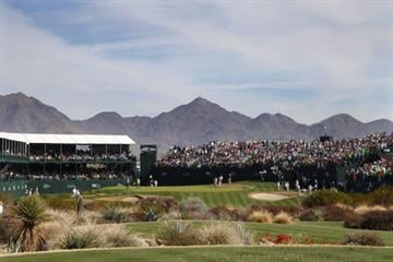 SCOTTSDALE, AZ - FEBRUARY 2: A view of the green on the 16th hole during the third round of the Waste Management Phoenix Open at TPC Scottsdale on February 2, 2013 in Scottsdale, Arizona. (Photo by Hunter Martin/Getty Images) By Hunter Martin