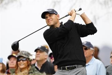 SCOTTSDALE, AZ - FEBRUARY 3: Bill Haas hits his tee shot on the third hole during the final round of the Waste Management Phoenix Open at TPC Scottsdale on February 3, 2013 in Scottsdale, Arizona. (Photo by Hunter Martin/Getty Images) By Hunter Martin