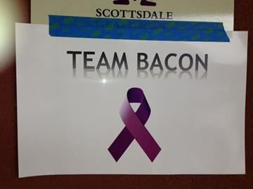 Team Bacon sign By Jennifer Thomas