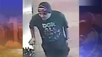 Police said a man wearing a black beanie with a pink skull robbed the Subway near Northern and 35th avenues in Phoenix. By Jennifer Thomas