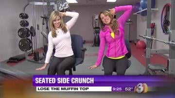 Tiffani Bachus shows us some exercises to help strengthen your core and lose the muffin top By Alice Kleinpeter