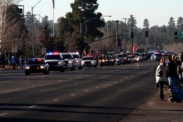 Hundreds lined the streets of downtown Flagstaff to pay their respects to Staff Sgt. Jonathan D. Davis. By Jennifer Thomas