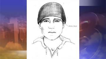 Sketch of suspect By Jennifer Thomas
