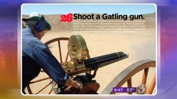 "Item #26 on ""The Bucket List"" by Phoenix Magazine - shoot a Gatling gun! By Content Creator"