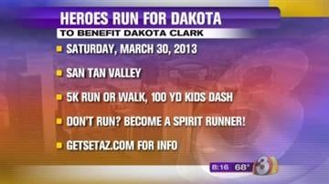 """The Pinal County Sheriff's Office along with Rural Metro Fire, Southwest Ambulance and Banner Ironwood Medical Center invite you to come out and show your support at the 5K """"Heroe's Run For Dakota."""" By Content Creator"""