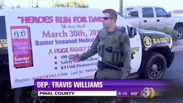 "The Pinal County Sheriff's Office along with Rural Metro Fire, Southwest Ambulance and Banner Ironwood Medical Center invite you to come out and show your support at the 5K ""Heroe's Run For Dakota."" By Content Creator"